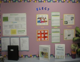 A parent information board is a great way to display your centers curriculum, a framework in which you may follow documentation panels and provide parents with outside resource information.